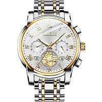 Кварцевые мужские часы Olevs (серебро)