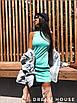 Короткое летнее платье - майка без рукава 5ty1399, фото 8