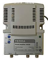 TERRA HA126 (1 вход, 1 выход, усиление 34 дБ, выходной уровень 117дБ/мкВ, регулировки АЧХ и усиления)
