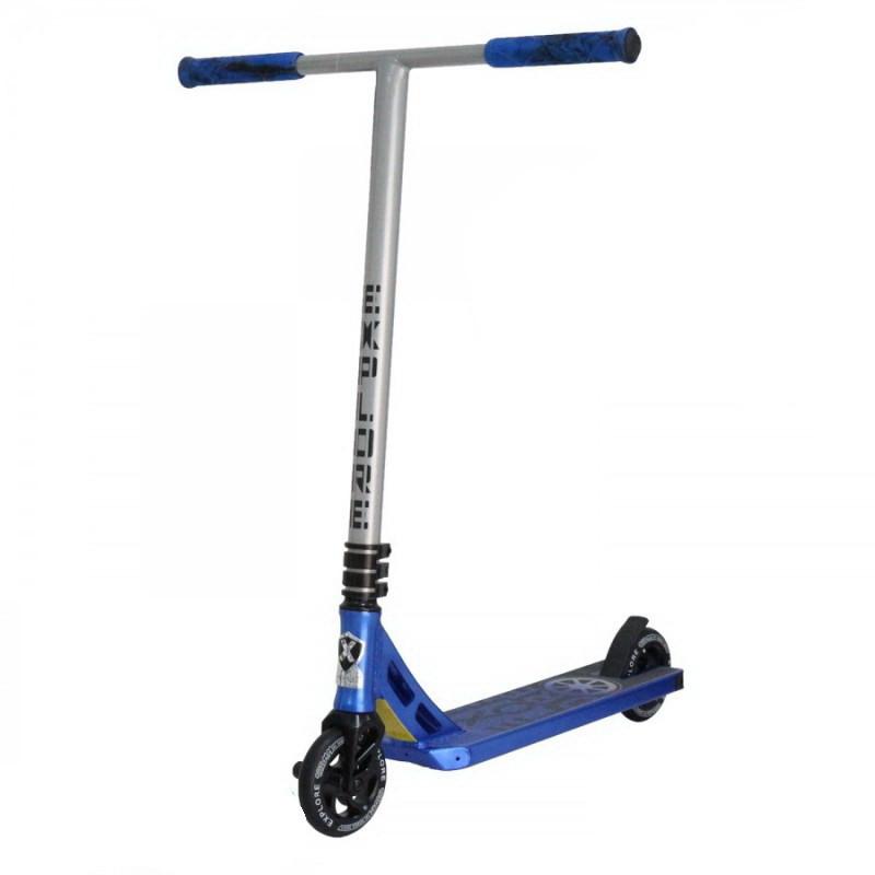Самокат Explore LEONE NEW 120мм для трюків синій/сірий Amigo sport