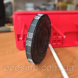 R-628 Размерник тканевый (жаккард) XS 960шт. Черный (СИНДТЕКС-0190)