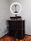 Кольцевая светодиодная лампа RING LIGHT ZB-R14 + сумка,с держателем телефона диаметром 35 см без штатива, фото 4