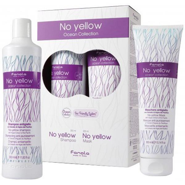 Набор для волос Fanola No Yellow Коллекция океана (шампунь 350 мл + маска 300 мл)