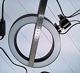Кольцевая LED лампа диаметром 20см без крепления телефона, питание от usb без штатива, фото 4