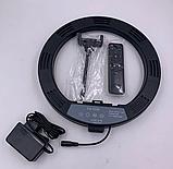 Кольцевое освещение для профессиональной съемки YQ320 с пультом, LED лампа диаметр 30 см без штатива, фото 4