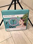 Кольцевое освещение для профессиональной съемки YQ320 с пультом, LED лампа диаметр 30 см без штатива, фото 9