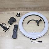 Кольцевое освещение для профессиональной съемки YQ320 с пультом, LED лампа диаметр 30 см без штатива, фото 10