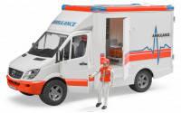 Игрушка - МВ Sprinter скорая помощь + фигурка водителя, М1:16
