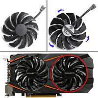 Вентилятор 88мм 12В 4пин PLD09210S12HH-B Gigabyte GTX 1050 1060 RX570