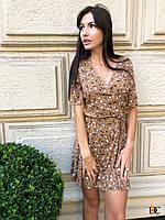 Летнее платье на запах в принт с короткими рукавами 31mpl1401, фото 1