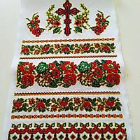 Рушник ритуальный на крест с орнаментом розы, фото 1