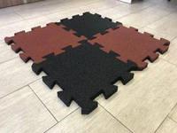 Плитка с резиновой крошки «ПАЗЛ» 455х455/30 мм