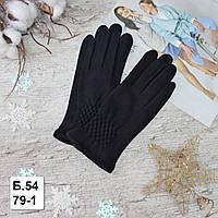 """Рукавички жіночі """"Paidi"""", РОСТОВКА, трикотаж на ХУТРІ, пальчик для СЕНСОРА. Якісні жіночі рукавички, фото 1"""