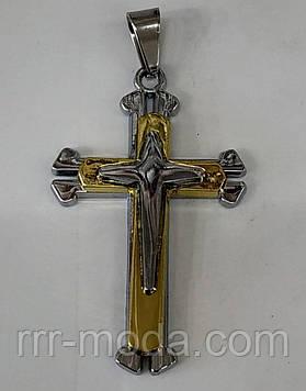 Золотые кресты Торетто 7 см оптом. Бижутерия оптом РРР. 158