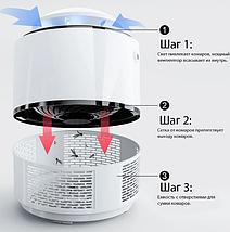 Ловушка для комаров уничтожитель насекомых Mosquito Killer Lamp, цвета черный, белый, фото 2