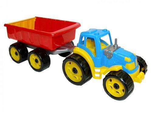 Трактор с прицепом ТехноК  (синий)  sco