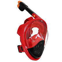 Маска для снорклинга (плавания) SportVida SV-DN0021 Size S/M Black/Red, фото 2