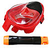 Маска для снорклинга (плавания) SportVida SV-DN0021 Size S/M Black/Red, фото 3