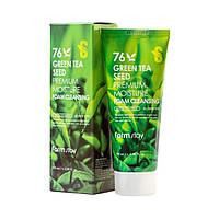 Очищающая пенка с семенами зеленого чая Farm Stay Green Tea Seed Premium Moisture Foam Cleansing, 100мл