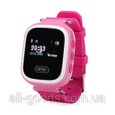 Детские телефон-часы с GPS трекером UWatch Q60 Pink