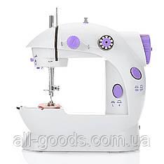 Мини швейная машинка 4 в 1 с педалью FHSM 202 + адаптер 220V (7172)