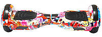Гироборд 6,5 (самобаланс, подсветка, Bluetooth, сумка) Flowers Graffiti с пультом