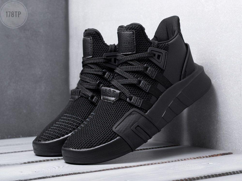 Мужские кроссовки Adidas EQT Basketball ADV Total black (черные) 178TP