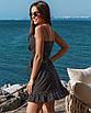 Женское платье на запах в горошек Черный, фото 2