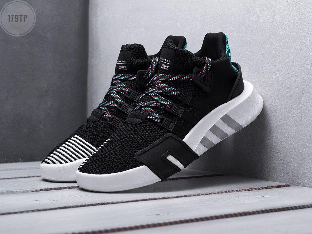 Чоловічі кросівки Adidas EQT Basketball ADV Black/Green (чорно-біле з зеленим) 179TP