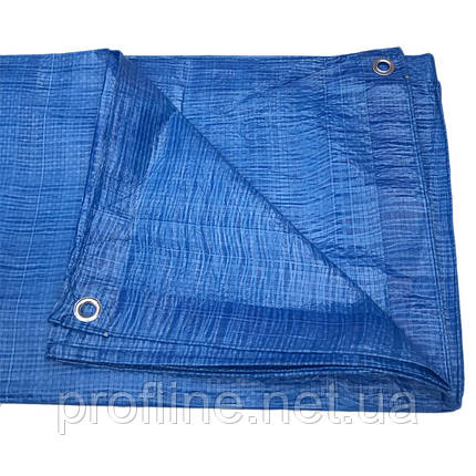 Тент синий, полиэтиленовый, плотностью 65г/м², с проушинами и двусторонней ламинацией, 6 х 10м  AB-0610, фото 2