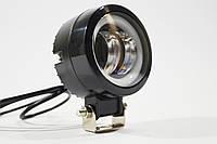 Дополнительная светодиодная LED фара 20Вт круглая с ДХО Четкой световой теневой границей