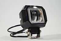 Дополнительная светодиодная LED фара 20Вт квадратная с ДХО Четкой световой теневой границей
