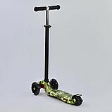 """Самокат А 25468/779-1323 MAXI """"Best Scooter"""",пластмассовый, 4 колеса PU, свет, трубка руля алюминиевая, фото 2"""