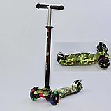 """Самокат А 25468/779-1323 MAXI """"Best Scooter"""",пластмассовый, 4 колеса PU, свет, трубка руля алюминиевая, фото 3"""
