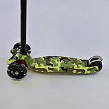 """Самокат А 25468/779-1323 MAXI """"Best Scooter"""",пластмассовый, 4 колеса PU, свет, трубка руля алюминиевая, фото 4"""