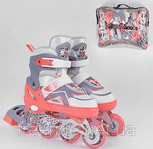 """Ролики """"S"""" Best Roller (30-33) колёса PU, свет переднее колесо, d=6.5 см"""