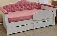 Комплект  Адель (кровать 80х160, чехол, спинка-бортик), Лион
