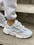 Жіночі кросівки Adidas Ozweego Рефлективні (білі) 462GL, фото 3