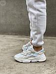 Жіночі кросівки Adidas Ozweego Рефлективні (білі) 462GL, фото 7
