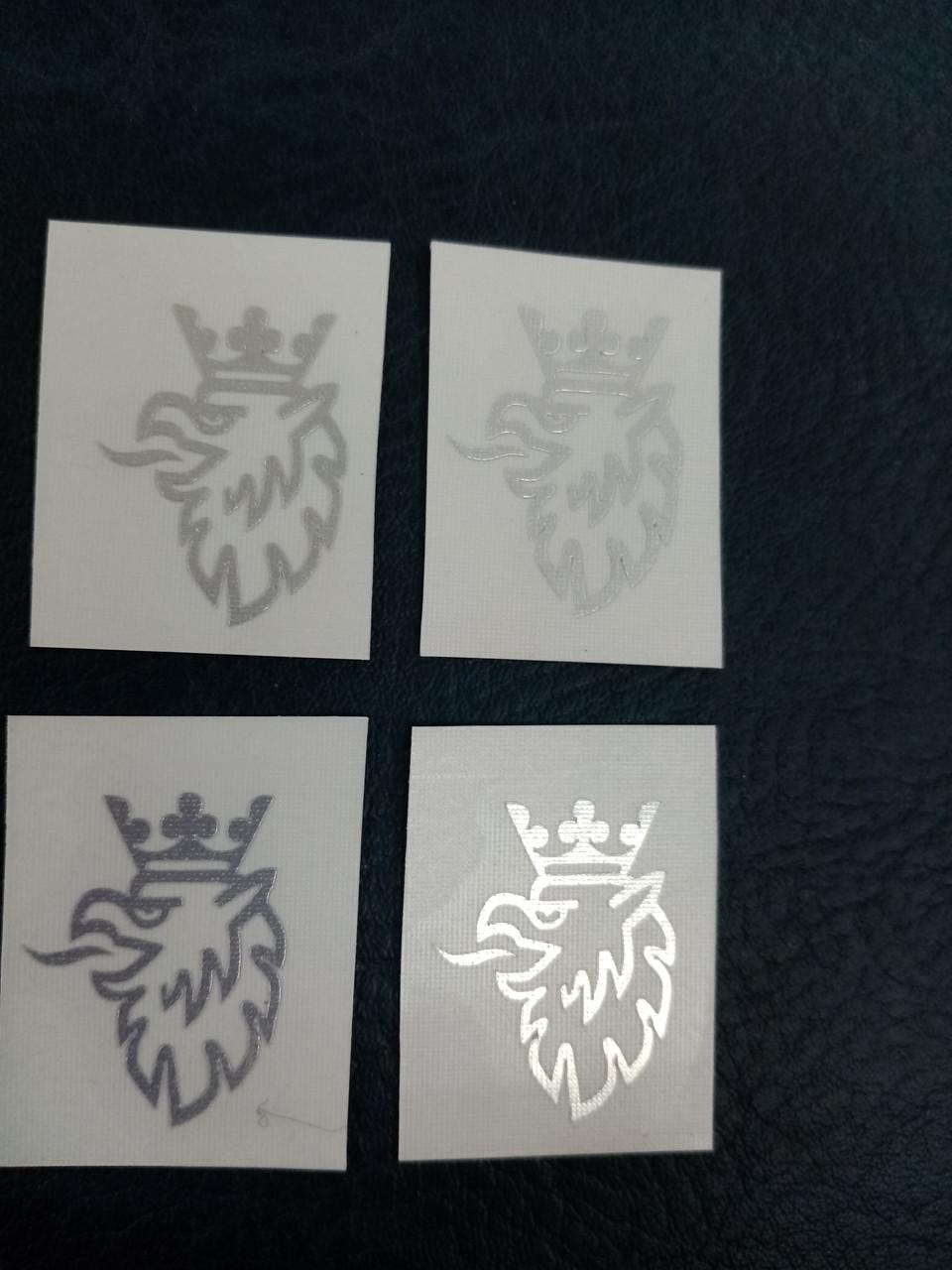 Заказ покупателя  виниловые наклейки SAAB SCANIA   2,5х1,8 см хром