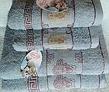 Набір махрових рушників 70х140 плюс 50х100 з бавовни, фото 2