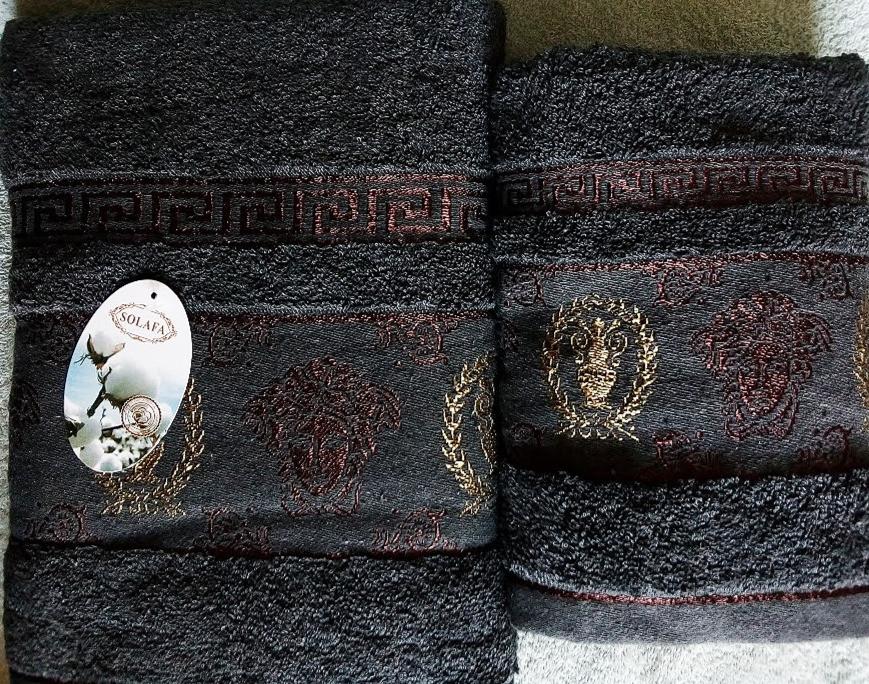 Набір махрових рушників 70х140 плюс 50х100 з бавовни