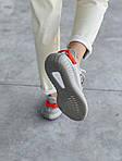 Жіночі кросівки Adidas Yeezy Boost 350 V2 'Tail Light' Woman (сіро-помаранчеві) 448GL, фото 3