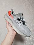 Жіночі кросівки Adidas Yeezy Boost 350 V2 'Tail Light' Woman (сіро-помаранчеві) 448GL, фото 6