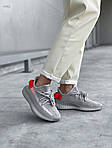 Жіночі кросівки Adidas Yeezy Boost 350 V2 'Tail Light' Woman (сіро-помаранчеві) 448GL, фото 5