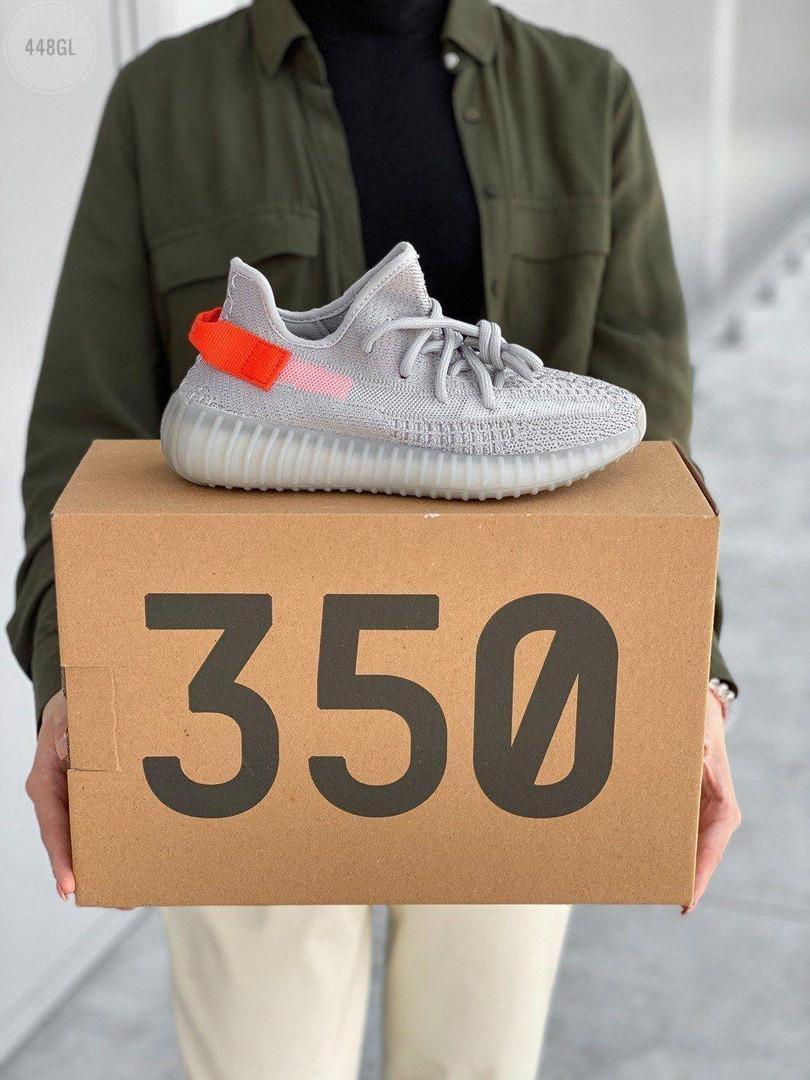 Жіночі кросівки Adidas Yeezy Boost 350 V2 'Tail Light' Woman (сіро-помаранчеві) 448GL