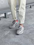 Жіночі кросівки Adidas Yeezy Boost 350 V2 'Tail Light' Woman (сіро-помаранчеві) 448GL, фото 4