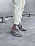 Жіночі кросівки Adidas Yeezy Boost 350 V2 'Tail Light' Woman (сіро-помаранчеві) 448GL, фото 7