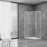 Душевая кабина Dusel DL197H Chrome, 100х100х190, пятиугольная, профиль хром, стекло прозрачное, фото 2