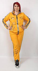 Турецкий женский костюм с лампасами, большие размеры 52-66